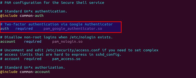 enable 2FA in SSH on ubuntu