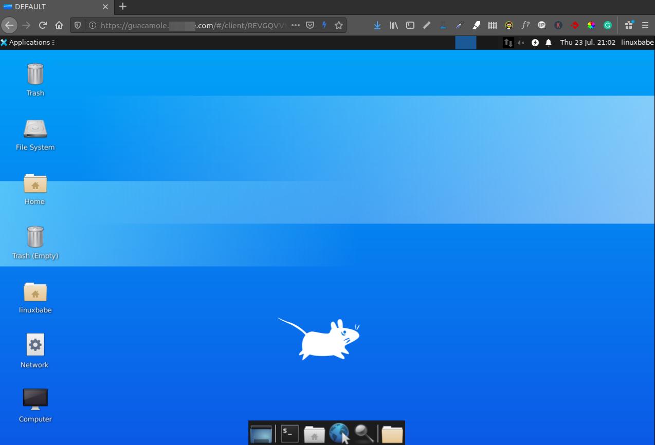 gucamole xfce remote desktop