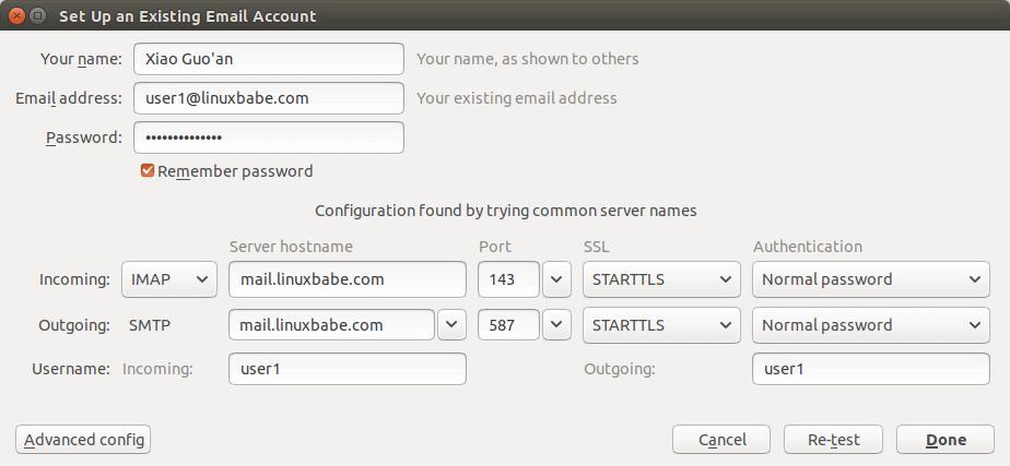 iredmail desktop email client configuration
