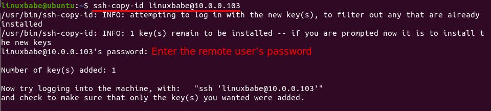 ssh-copy-id ubuntu