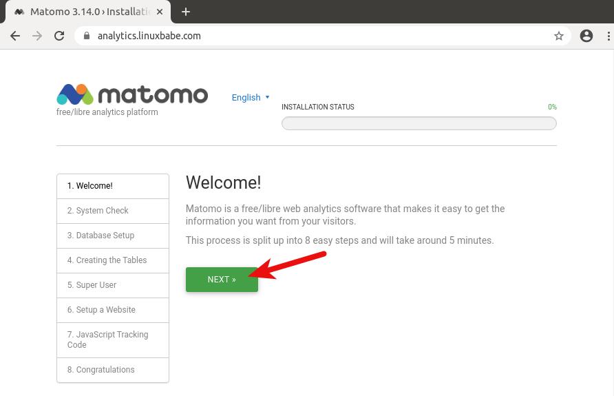 install matomo on ubuntu 20.04 LTS