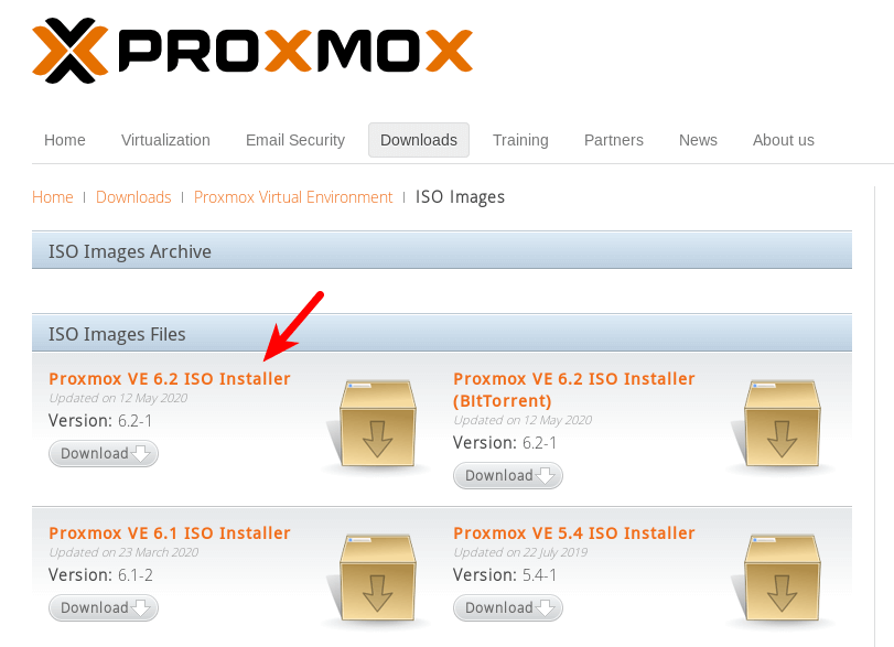proxmox download