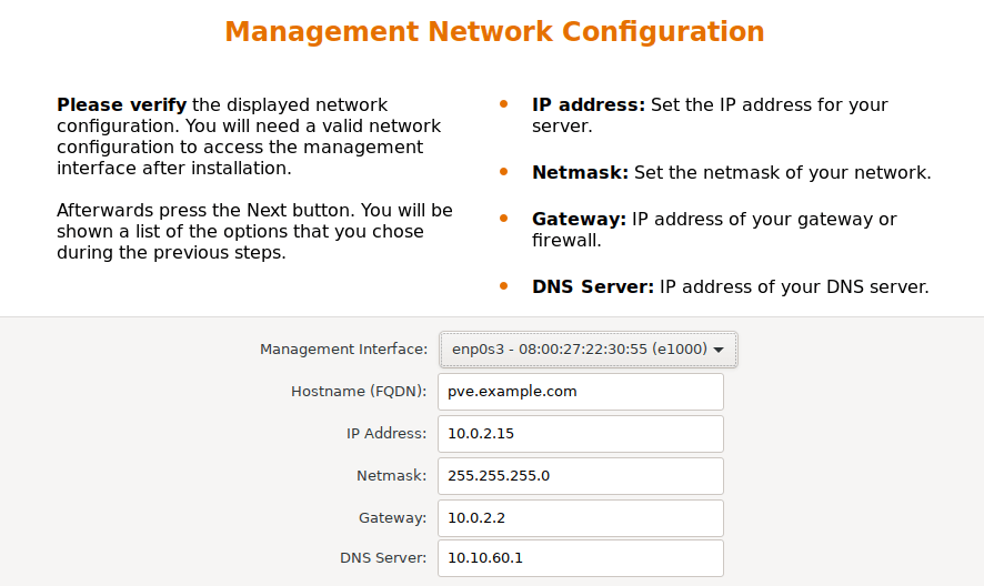 proxmox network configuration