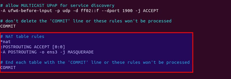 Menutupi di Firewall IPv6 UFW