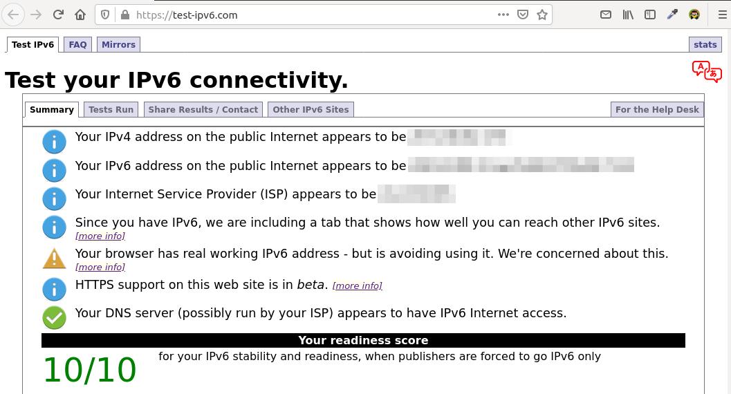 Testing IPv6 Connectivity ocserv VPN