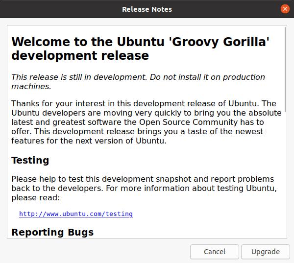 Ubuntu 'Groovy Gorilla' release notes
