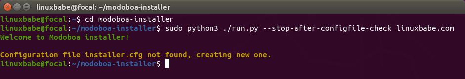 modoboa installer ubuntu 20.04