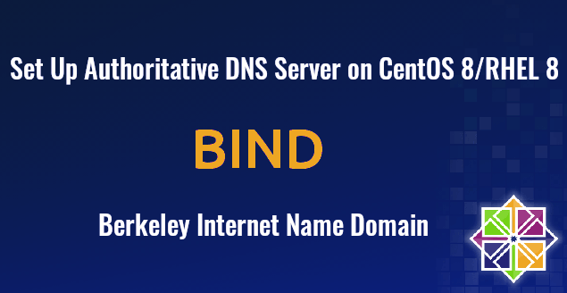 Set Up BIND Authoritative DNS Server on CentOS 8 RHEL 8