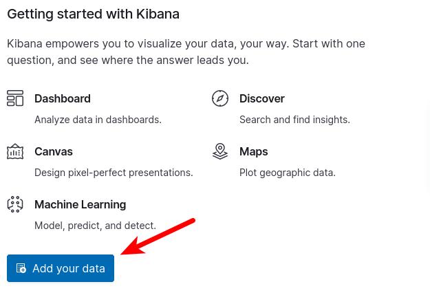 add data in kibana dashboard