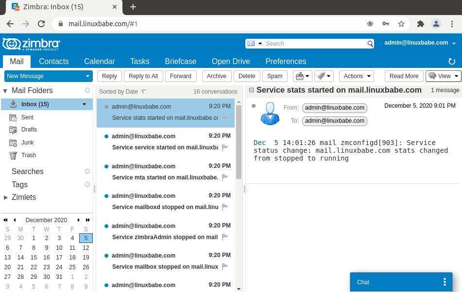 Set Up Zimbra Mail Server on Ubuntu 18.04