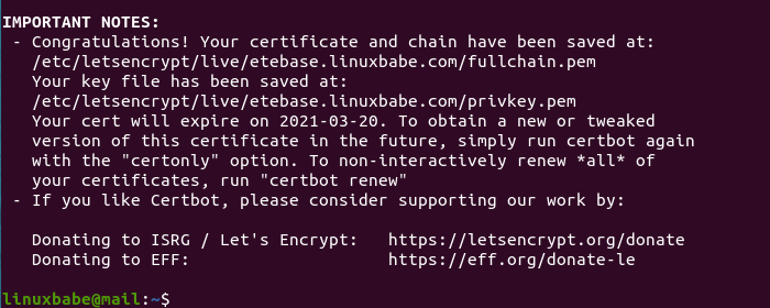 etebase server ubuntu certbot https