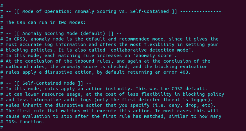 modsecurity Anomaly Scoring debian ubuntu