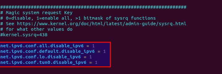 protonvpn disable IPv6-