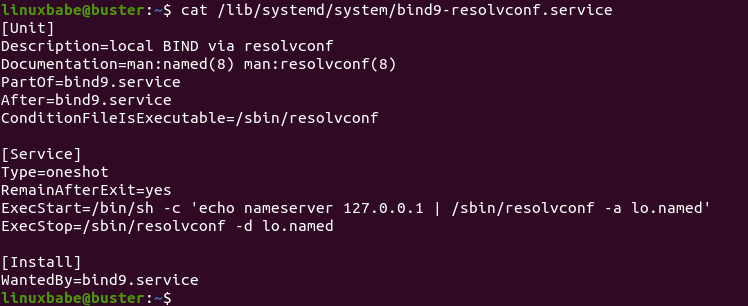 local BIND via resolvconf