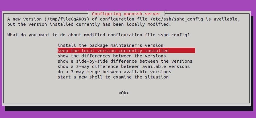 scalahosting configure openssh server