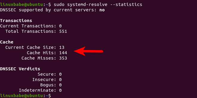 systemd-resolved DNS cache