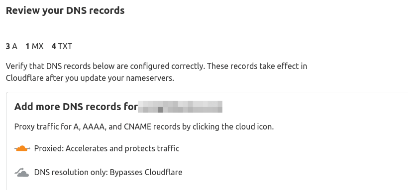 cloudflare import DNS records