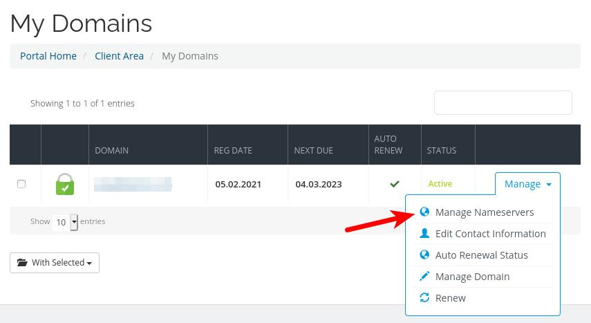 scalahosting manage name servers