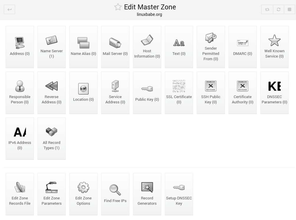 webmin bind edit master zone