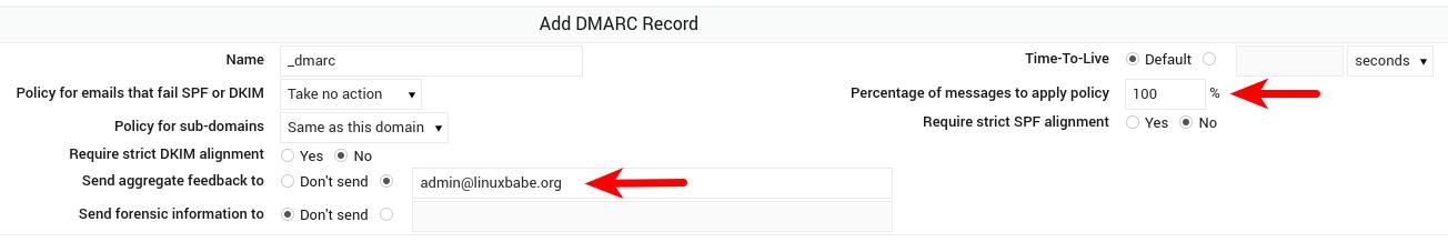 webmin create DMARC record