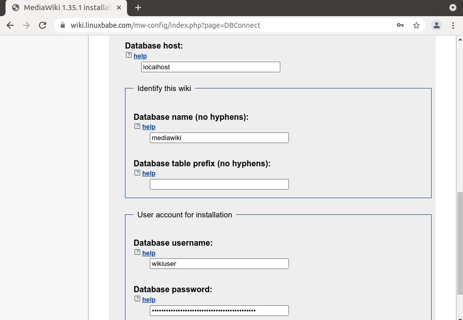 MediaWiki ubuntu 20.04
