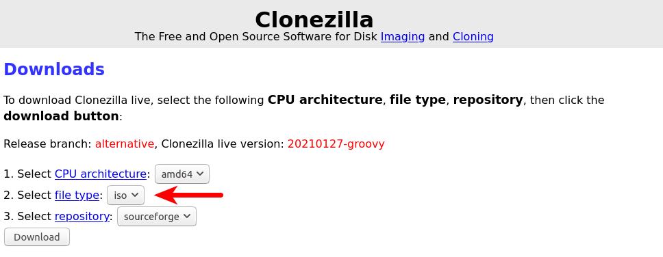clonezilla usb