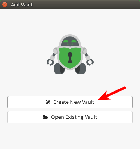cryptomator create new vault