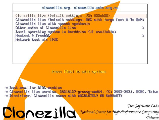 how to use clonezilla