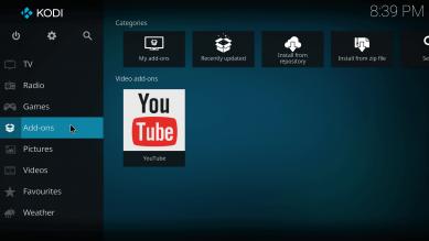 kodi add-ons youtube video