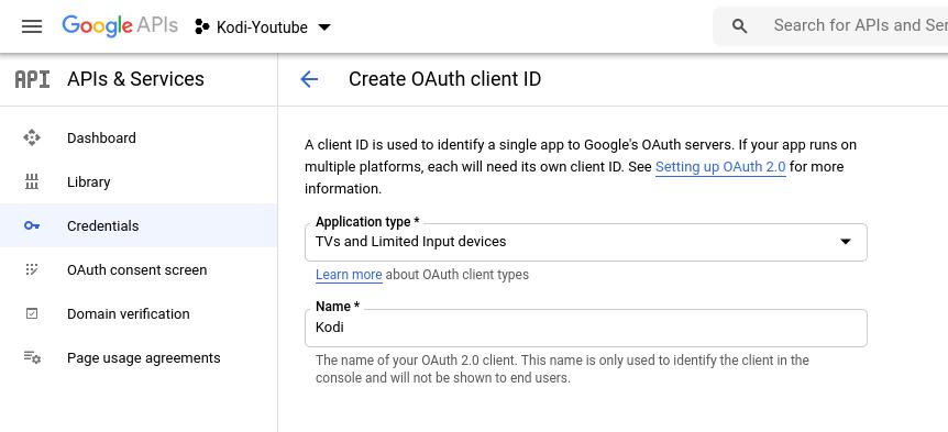 kodi youtube oauth client id