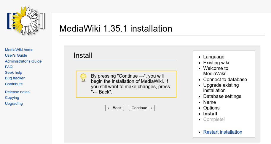 mediawiki how to install