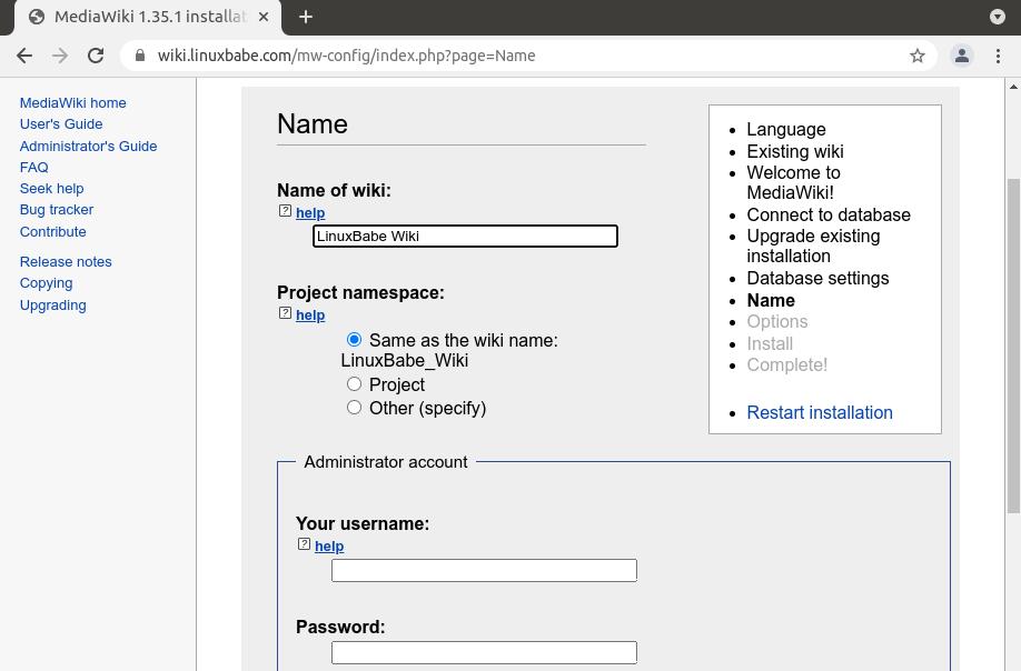 mediawiki ubuntu 20.04 apache