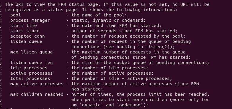 PHP-FPM status page slow requests