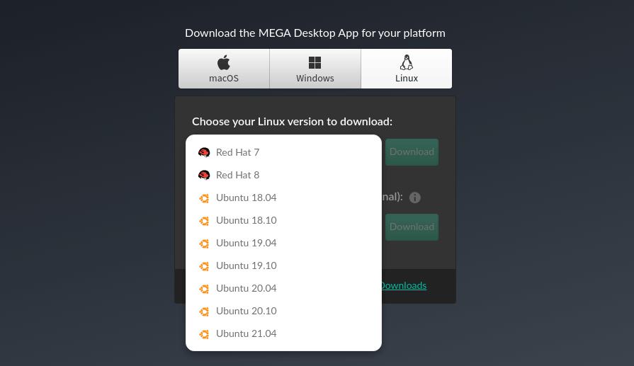 megasync linux client