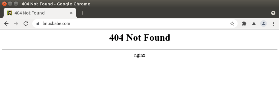 nginx 404 not found