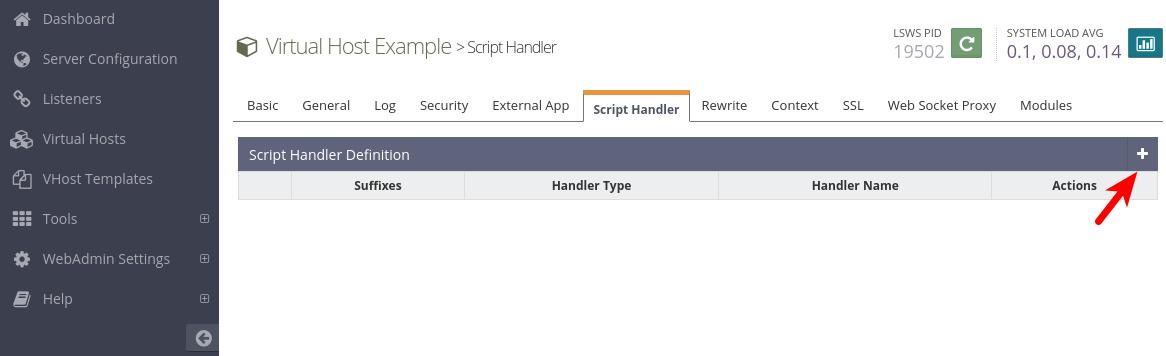 openlistspeed script handler