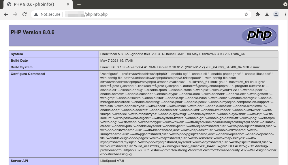 openlitespeed multiple PHP versions