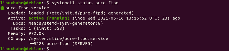 pure-ftpd debian 10