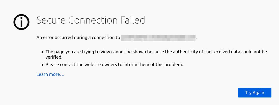 secure connection failed nginx