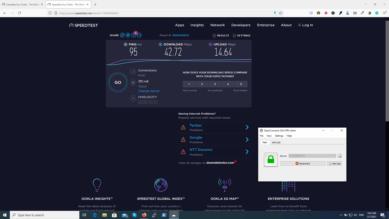 OpenConnect VPN speed test on Windows