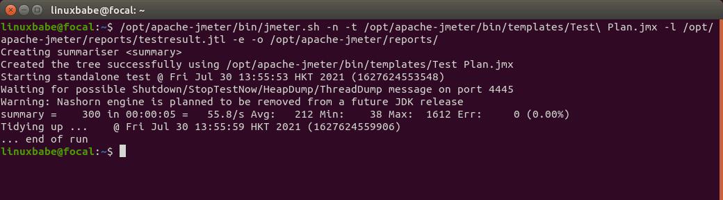 apache jmeter command line mode load testing