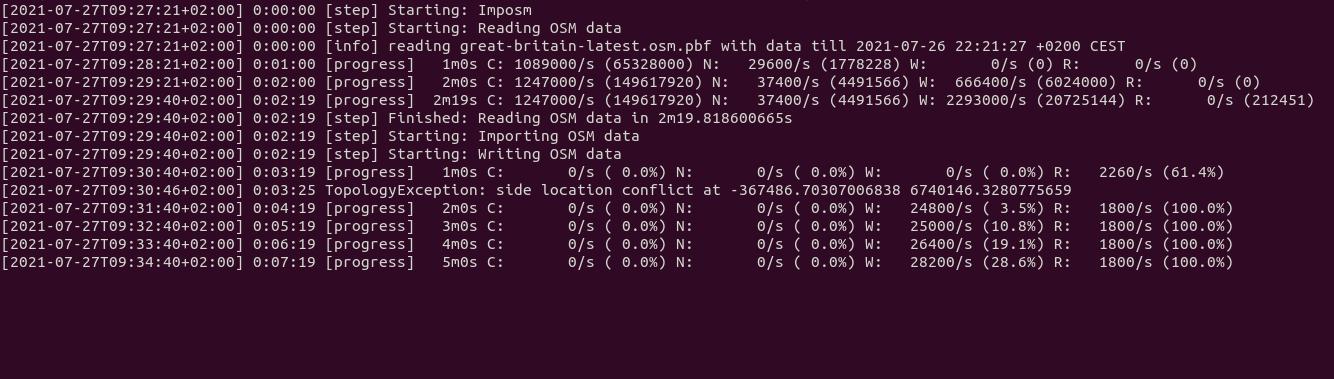 imposm import pbf to postgresql