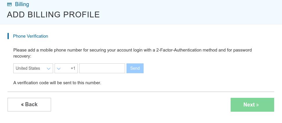 kamatera 2 step verification
