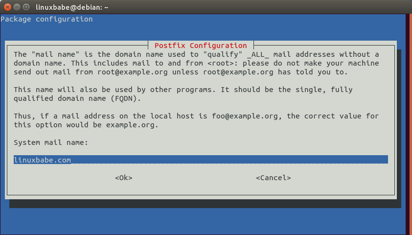 postfix smarthost debian