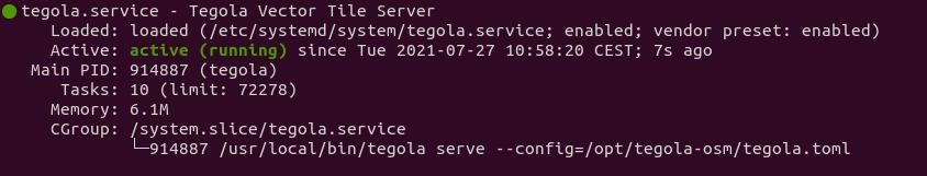 tegola systemd service