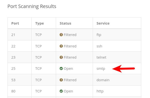 debian open TCP port 25 inbound in firewall