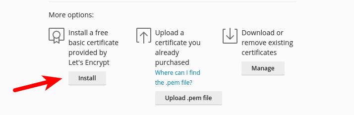 plesk free Let's Encrypt certificate