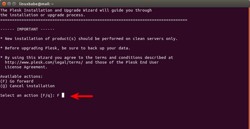 plesk install wizard ubuntu 20.04