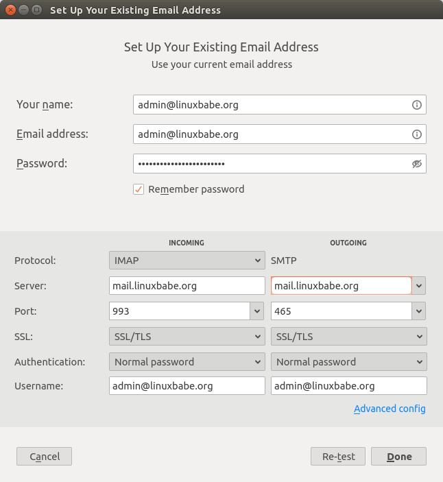 plesk mail server email client setup