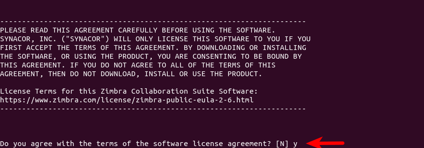 zimbra software license agreement